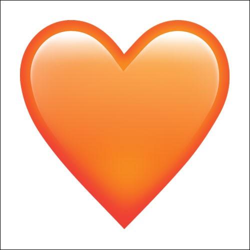 Que signifie le cœur orange ?