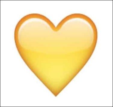 Que signifie le cœur jaune ?