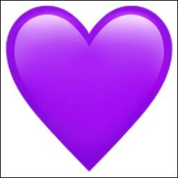 Que signifie le cœur violet ?