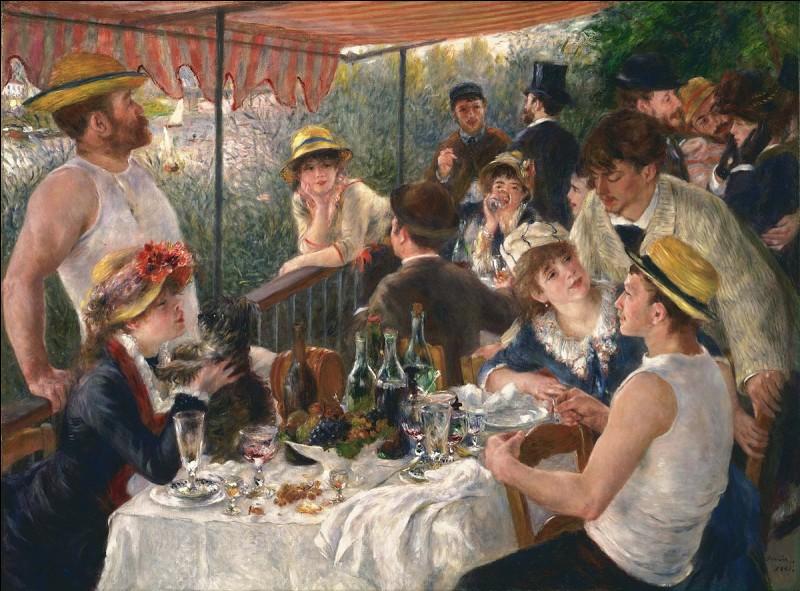 """Complétez le titre de ce célèbre tableau du peintre Auguste Renoir : """"Le déjeuner des …""""."""