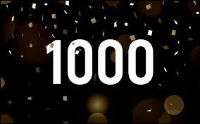 """Laquelle de ces soustractions ne donne pas pour résultat """"1000"""" ?"""