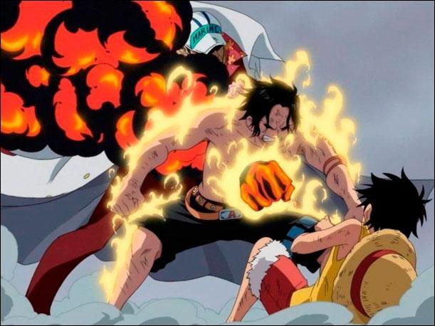 À quel chapitre Portgas D. Ace est-il tué par Akaïnu ?