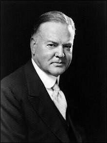 Années : 1929-1933Natif de : IowaParti : républicain Fait : krach de 1929 De qui s'agit-il ?