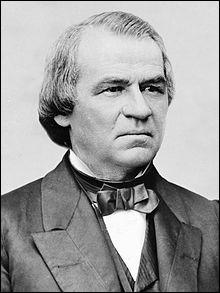 """Années : 1865-1869Natif de : TennesseeParti : démocrate Fait : président qui a subi l'""""impeachment"""" De qui s'agit-il ?"""