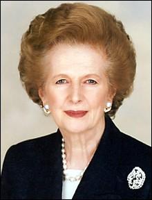 """Complétez le surnom de Margaret Thatcher : """"La dame de...""""."""