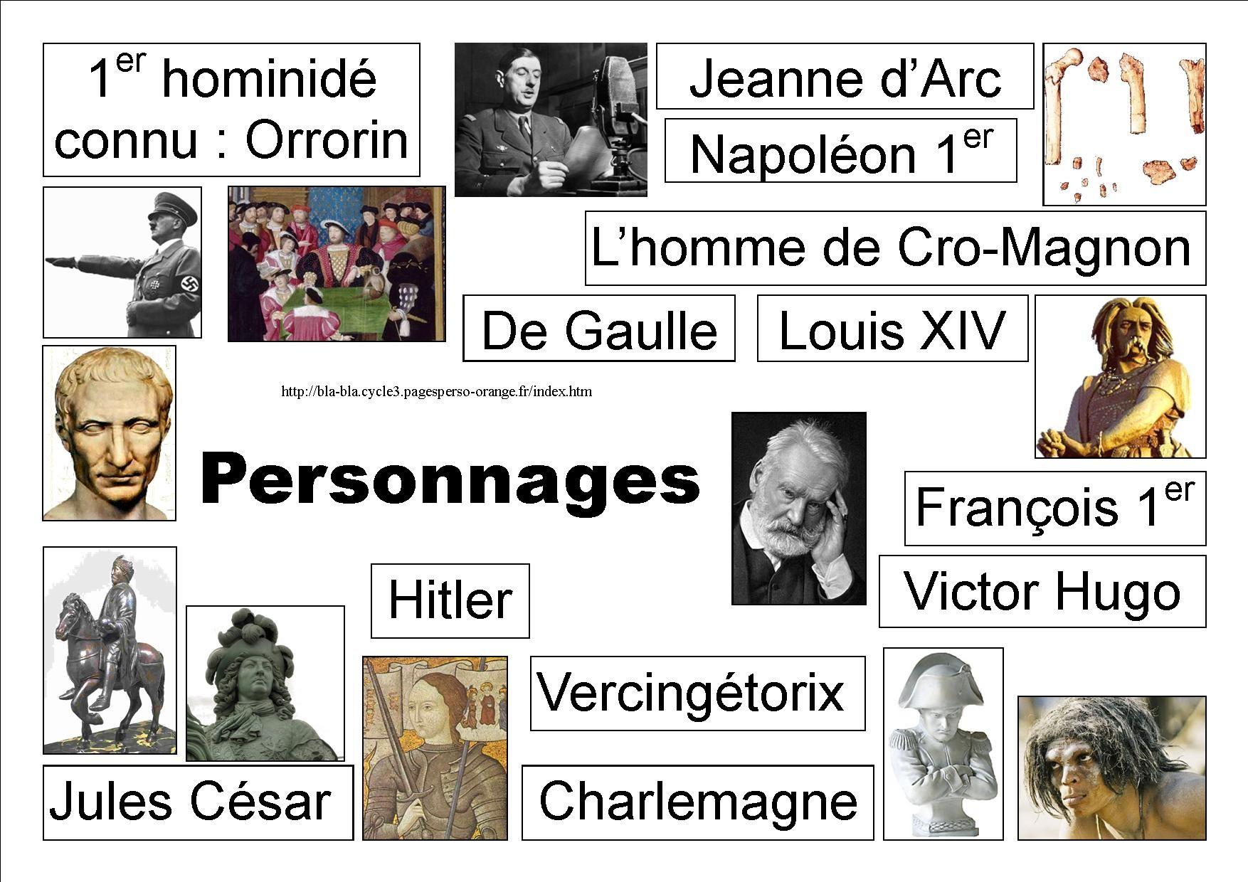 Les surnoms de personnages connus