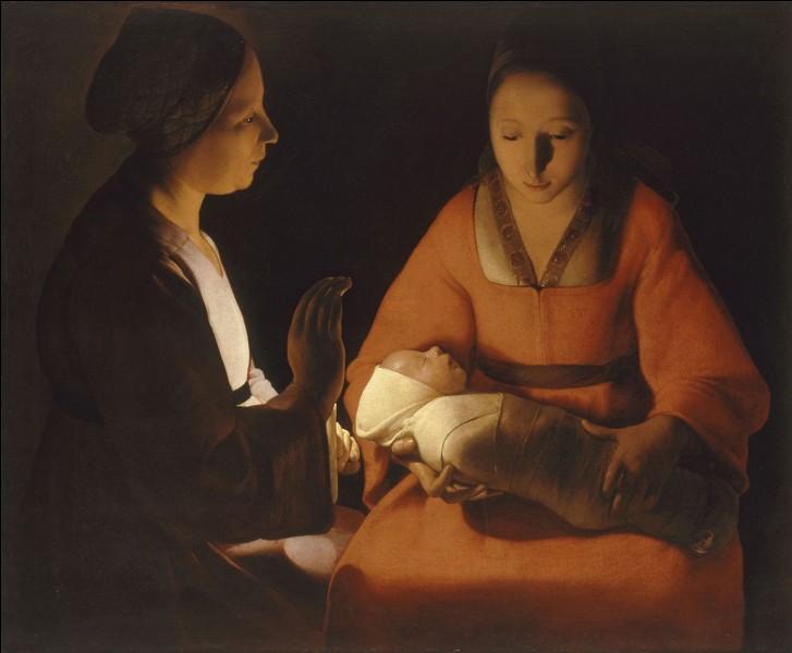 """Quel peintre baroque a peint """"Le Nouveau-né"""" présent ici ?"""