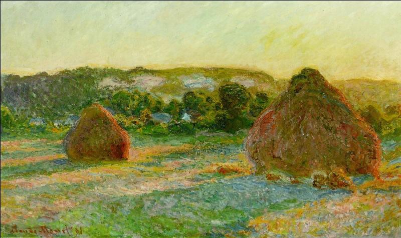 """Quel impressionniste est l'auteur du tableau """"Meules, fin de l'été"""" ?"""