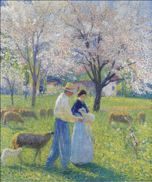 """""""Les Amoureux au printemps"""" est l'œuvre de quel peintre ?"""