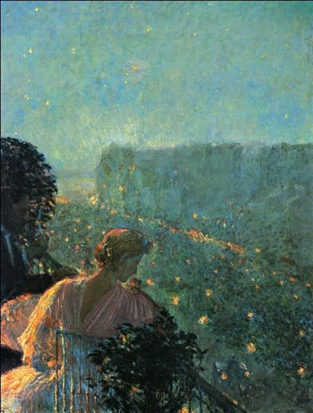 """Quel impressionniste américain est l'auteur du tableau """"Soir d'été, Paris"""" ?"""