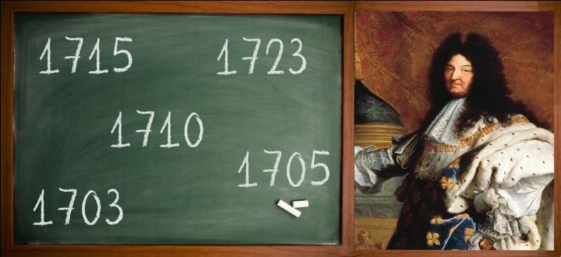 """Louis XIV, dit """"le roi soleil"""", né en 1638. La date de sa mort, est-elle sur le tableau ?"""