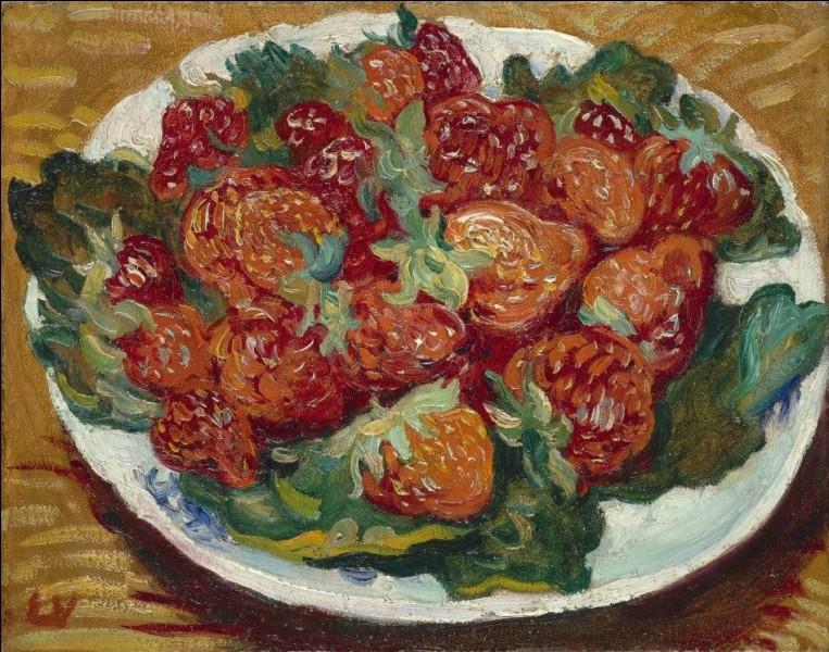 """Qui a peint """"Nature morte avec des fraises"""" ?"""