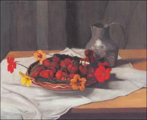 """Qui a peint """"Plat de fraises"""" ?"""