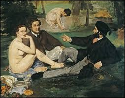 """""""Le Déjeuner sur l'herbe"""" est un tableau du peintre Claude Monet."""