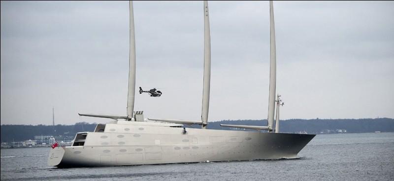 Regardez le plus grand yacht (142,81 m ) à voile du monde avec ses 8 ponts, conçu par le français Philippe Stark : il est équipé de trois mâts en carbone, ce qui en fait un voilier mais il compte aussi sur un système de propulsion hybride diesel-électrique. Quel nom a-t-on donné à ce vaisseau qui appartient au milliardaire russe Andreï Melnitchenko ?
