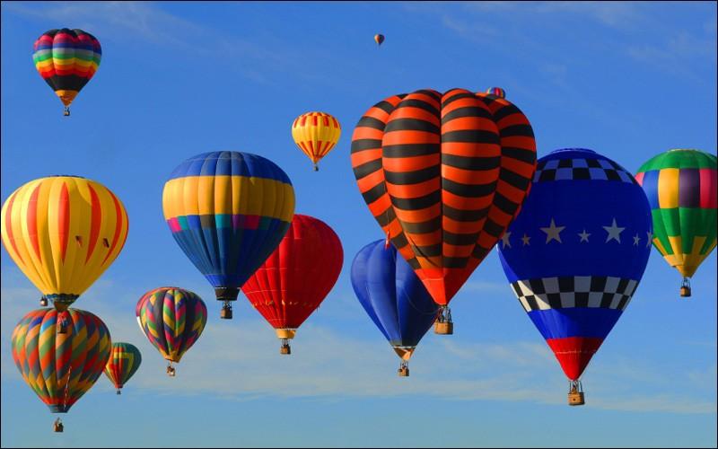 Avec quoi gonfle-t-on les montgolfières ?