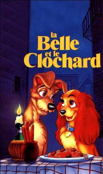 Autour de quel plat la Belle et le Clochard s'embrassent-ils pour la première fois ?