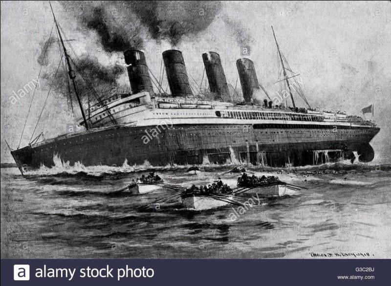 Quelle est la date du naufrage du Lusitania ?