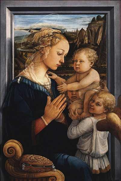 """Quel artiste italien de la Renaissance a peint le tableau """"La Vierge à l'Enfant avec deux anges"""" ?"""