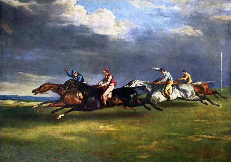 """Quel romantique français a peint """"Le Derby d'Epsom"""" présent ici ?"""