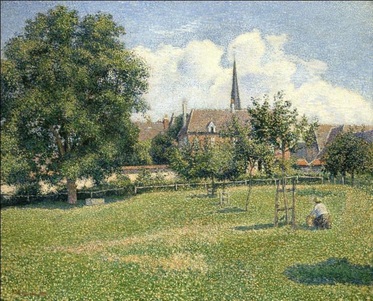 """Quel peintre est l'auteur du tableau """"Le clocher d'Eragny"""" ?"""