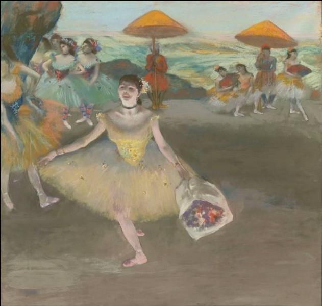 """Le tableau """"Danseuse au bouquet, saluant sur la scène"""" est l'œuvre du peintre ..."""