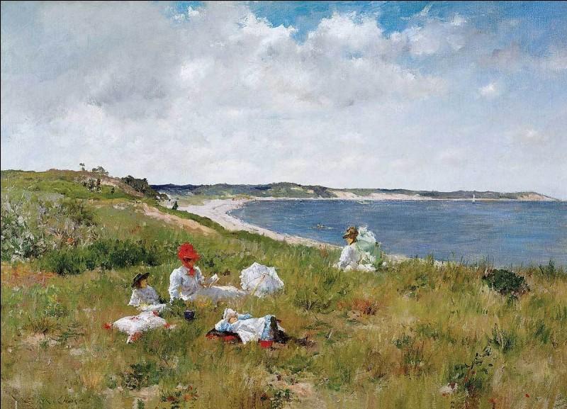 """Quel impressionniste américain est l'auteur du tableau """"Heures d'idylles"""" ?"""