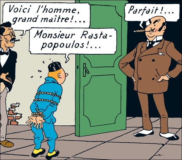 Quel est le prénom du criminel international Rastapopoulos ?