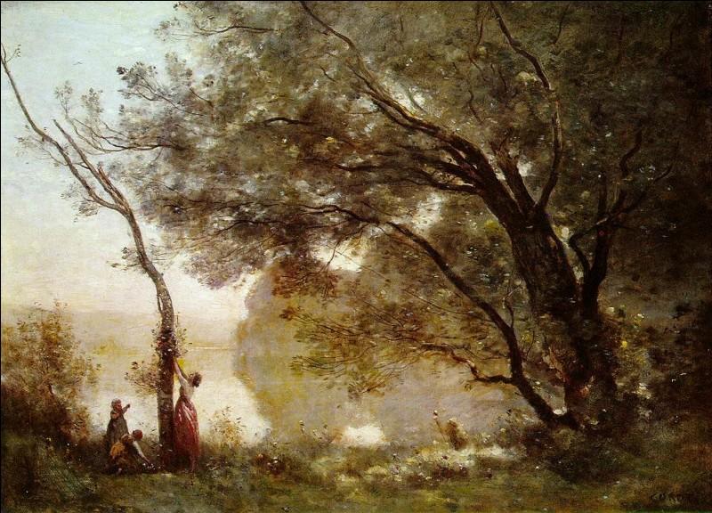 """Complétez le titre de ce tableau peint par Jean-Baptiste Camille Corot : """"... de Mortefontaine""""."""