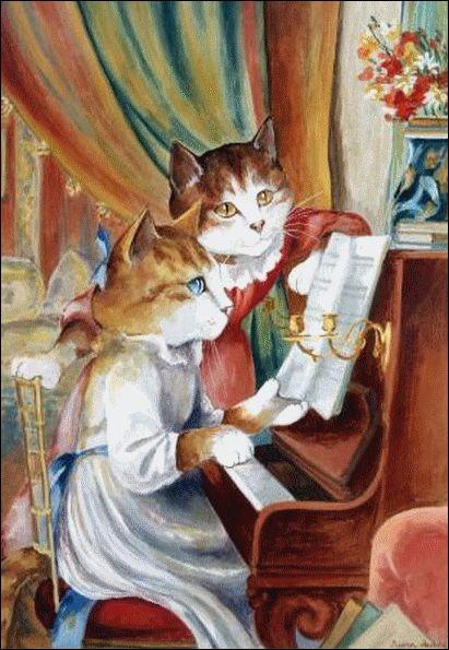 Vous reconnaitrez les minettes au piano ! De l'œuvre de qui sont-elles inspirées ?