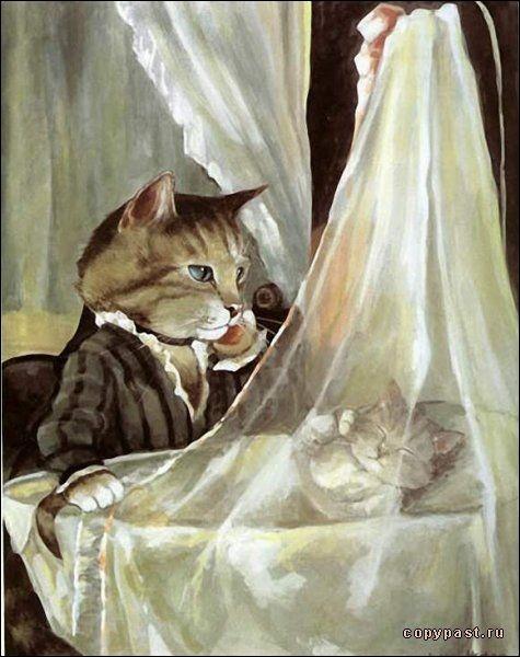 """C'est un chat qui veille sur """"Le Berceau"""" ! De qui est la véritable toile ?"""