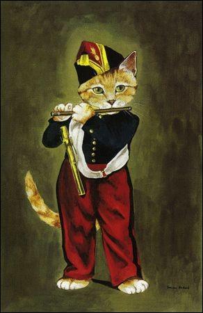 Le chat a pris la place d'un joueur de fifre célèbre, à qui appartenait-il ?