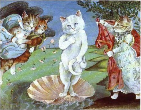 Et quand Minette se prend pour Vénus, quel peintre est parodié ?