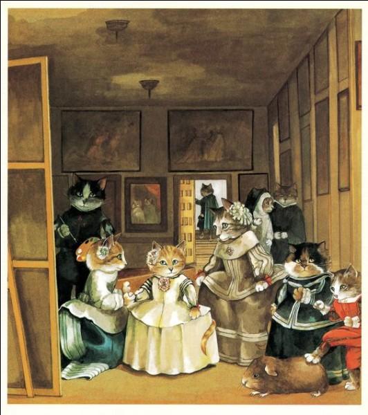Vous trouverez très vite de qui l'artiste s'est inspirée, en jouant avec ses chats !