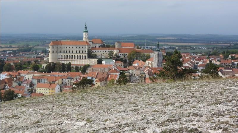 Où se trouve le pittoresque château de Mikulov ?