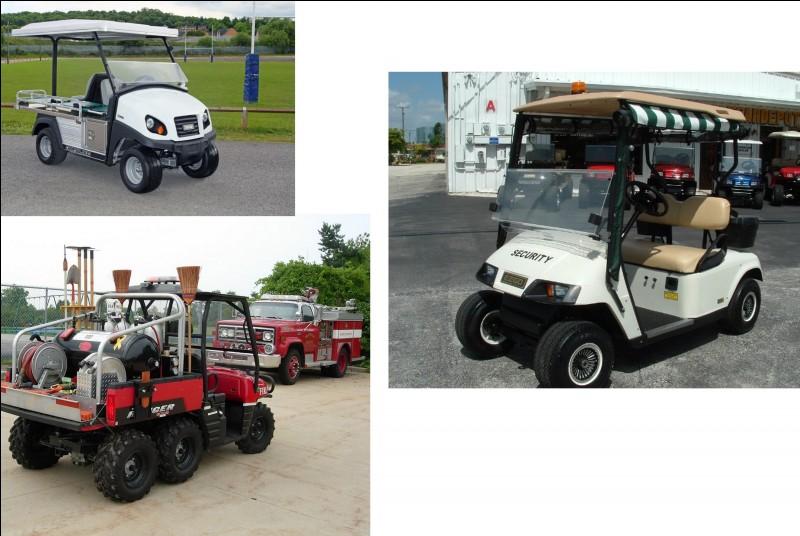 Ces drôles de petits véhicules ont chacun leur fonction : une pour les agents de sécurité, le second pour les pompiers du site et le dernier joue le rôle de l'ambulance. Comment se nomment-ils ?