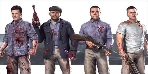 Comment se nomment les 4 protagonistes de la map Mob of the Dead ?