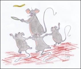 """Complétez la phrase avec le verbe au futur antérieur de l'indicatif : """"Quand tu …, les souris danseront"""" ?"""