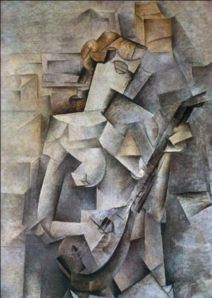 """Qui est l'auteur du tableau cubiste """"Jeune femme à la mandoline"""" ?"""