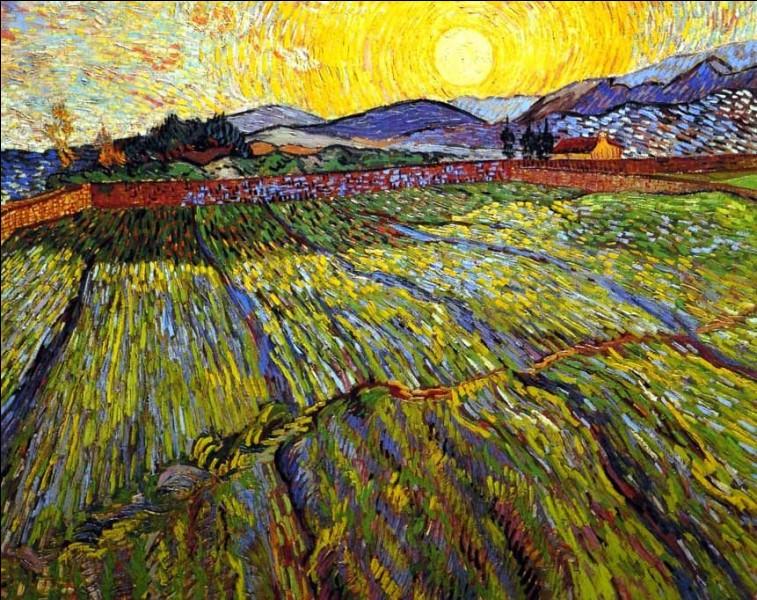 """Quel peintre est l'auteur du paysage """"Champ de blé au lever du soleil"""" ?"""