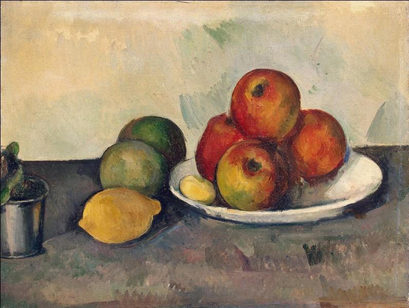 """Qui a réalisé le tableau """"Nature morte aux pommes"""" ?"""
