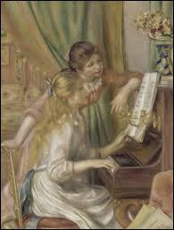 """Auguste Renoir a peint """"Jeunes filles au piano""""."""