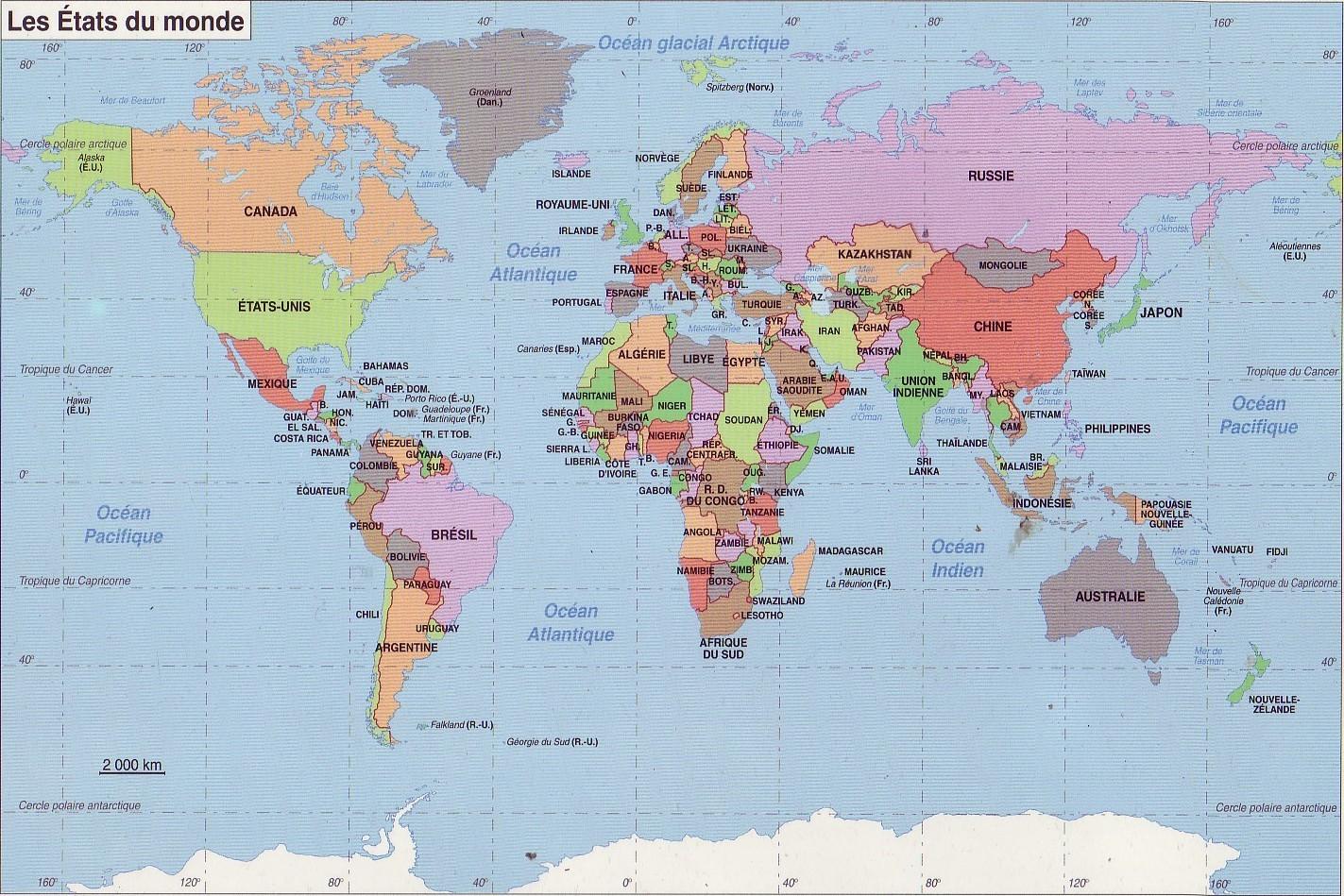 Niveau 1 de géographie