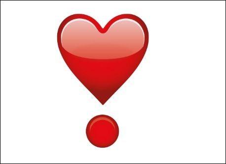 Que signifie le cœur en point d'exclamation ?