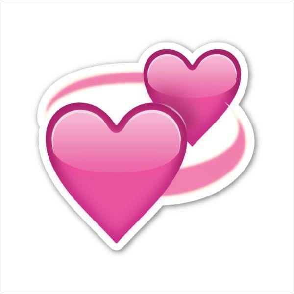 Que signifient les cœurs tournant l'un dans l'autre ?