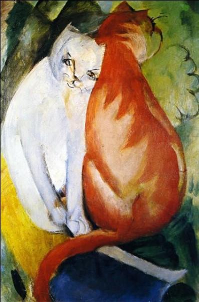 Un chat blanc et un chat roux, par qui ont-ils été peints ?