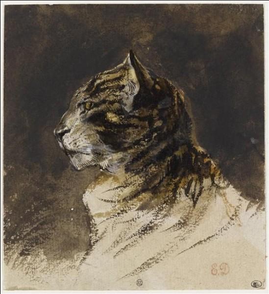 Qui a peint cette ''tête de chat'' ?