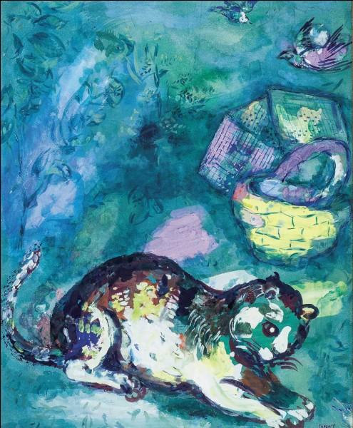 Ce peintre a illustré les fables de La Fontaine. Vous avez ici ''Le chat et les deux moineaux'' de...