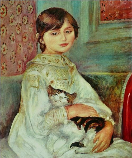Qui a fait le portrait de Julie Manet avec son chat ?