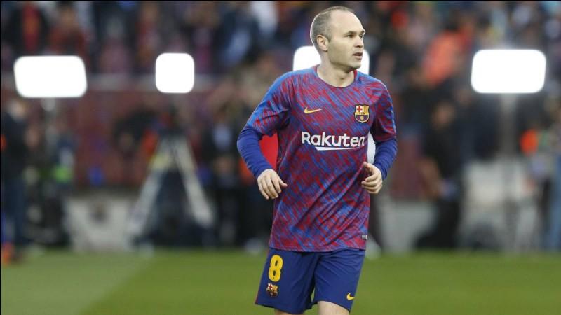 Combien de cartons rouges a pris Andrés Iniesta au FC Barcelone ?